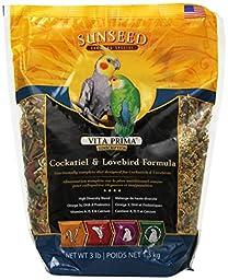 Sun Seed Company BSS49030 Vita Prima Daily Diet Cockatiel Food, 3-Pound