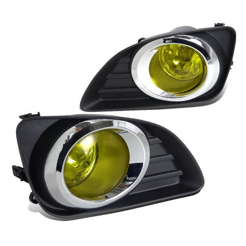 Toyota Camry Yellow Lens Driving Fog Lights Front Bumper Lamps