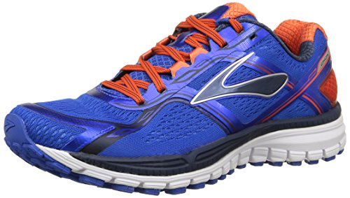 Brooks Ghost 8 M Scarpe da Corsa, Uomo, Multicolore (Electric Brooks/Spicy Orange/Dress Blue), Taglia 43 EU (9.5 US)
