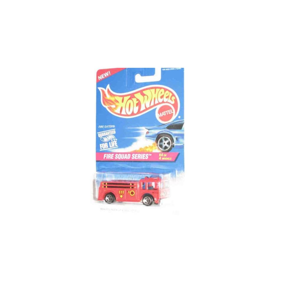 Fire Squad Series #4 Fire Eater 5 Spoke Wheels #427 Collectible Collector Car Mattel Hot Wheels 164 Scale