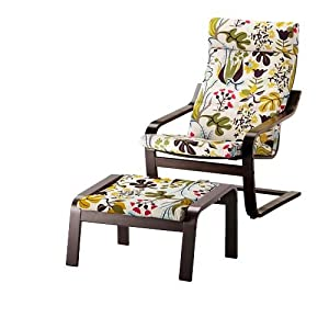 Amazon.com - Ikea Poang Chair Armchair and Footstool Set ...