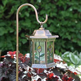 Large 1 Light Closed Flower Garden Landscape Light Finish: Antique Copper