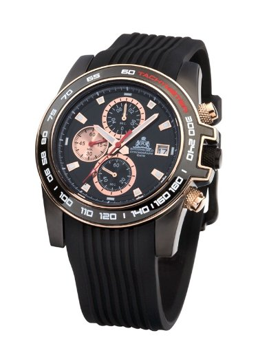 Rothenschild Voyager RS-0808-BSR Chronograph for Him Open Balance Spring