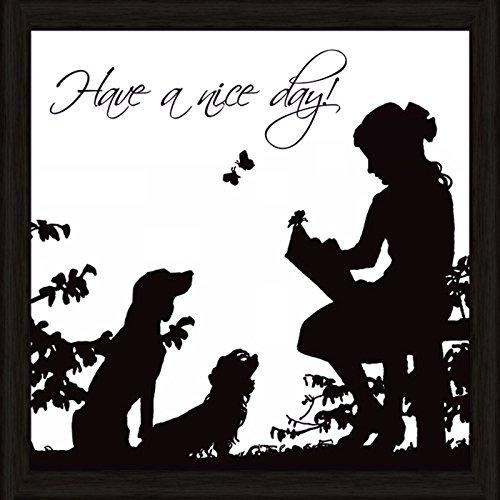 Bild mit Rahmen Kunstdruck Bilder Artland Schrift Jule: Hab einen schönen Tag in verschiedenen Größen Riesenauswahl in unsrem Händlershop!