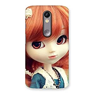 Delighted Tiny Baby Girl Multicolor Back Case Cover for Moto X Force