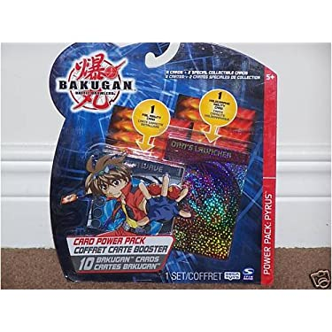 Bakugan Battle Brawlers 10 Card Power Pack Pyrus Assorted Cardswill Vary