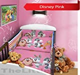 COT BUMPER 100 COTTON PADDED FOR BABY FIT COT 120x60 140x70 STRAIGHT 190cm to fit cot 140x70cm Disney Pink
