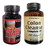 HIGH Potency ACAI JUICE EXTREEM AND COLON CLEANSE COMPLETE #7 COMBO : Two Products