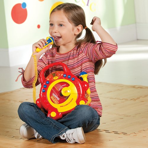 Kids' Portable Cd Player With Microphones