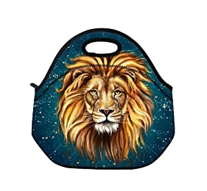 New Fashion Travel Outdoor Cooler Thermal Waterproof Lunch Bag Picnic Tote Box Container Insulated Zip Out Removable School Carry Handle Tote Lunch bag - Lion King D-90168