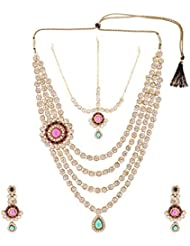 Arnav Creations Metal Multi-Strand Necklace Set For Women (ACN43)