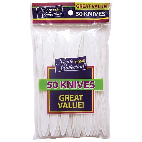 Nicole Home Collection 81453 Polypropylene Knife White Pp - 2400 Per Case