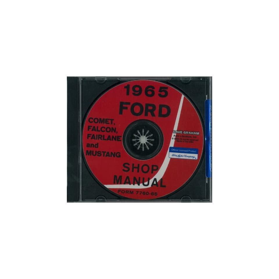 1965 FORD FALCON MUSTANG FAIRLANE COMET Service Manual CD