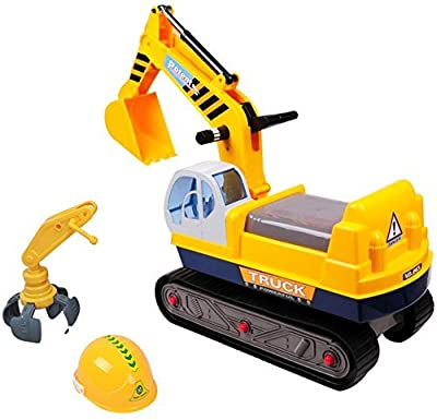 (BSD-Y-2) - 2 in 1 Children Ride-on Excavator Digger Ride On Tractor + FREE safety helmet - deAO®