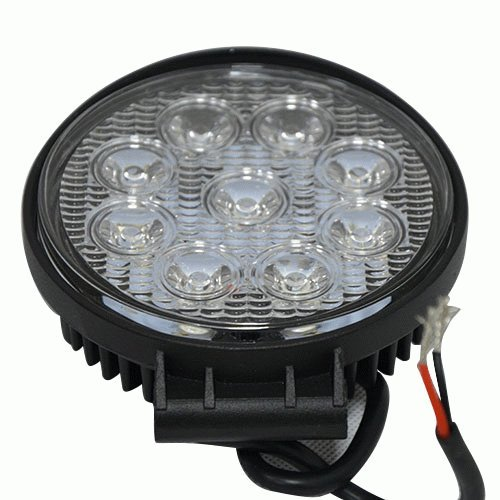 Ggl Waterproof Ultra Bright 27W High Power Led Work Light 30 Degrees Automotive Flood Spot Light Fog Lamp Bulb Round 9-Led - Ideal For Engineering Off-Road Specialized Vehicles And Various Lighting Applications