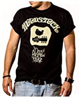 Hippie T-Shirt für Herren WOODSTOCK schwarz Größe S-XXXL
