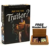 Are You the Traitor? - A Deception Party Game From The Makers of Fluxx. Plus FREE Wooden Box!