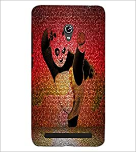PrintDhaba Panda D-4397 Back Case Cover for ASUS ZENFONE 6 A601CG (Multi-Coloured)