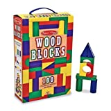 Melissa & Doug 100-Piece Wood Blocks Set