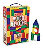 Melissa &amp; Doug 100-Piece Wood Blocks Set