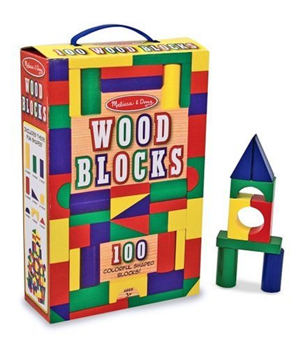 51znJEbNpSL Melissa & Doug 100 Piece Wood Blocks Set