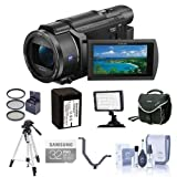 Sony FDR-AX53 4K Ultra HD Handycam Camcorder - Bundle with Video Bag, 32GB SDHC U3 Card, 55mm Filter Kit, Spare Battery, Video Light, Cleaning Kit, Tripod, Triple Shoe V-Bracket, (Color: Balloons-modelg3605, Tamaño: Balloons1-modeld3608)