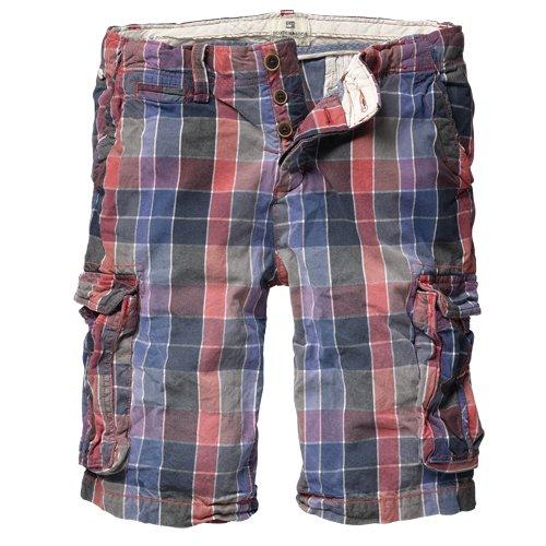 Scotch & Soda Mens Red/Blue Checked Shorts - Waist 36