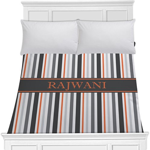 Grey Stripes Duvet Cover (Personalized) - Toddler front-974849