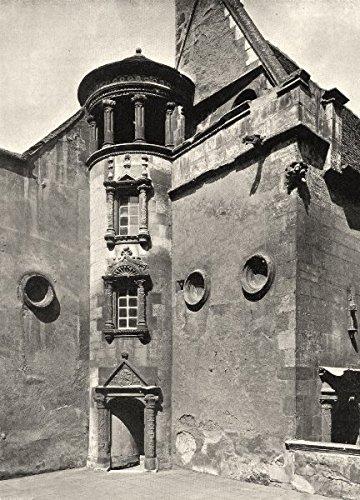 CHER. Bourges- Hôtel Lallemant. tourelle - 1905 - old print - antique print - vintage print - Cher art prints (Hotel A Bourges compare prices)