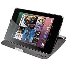 Amzer 95173 Shell Portfolio Case White Carbon Fiber Texture for Asus Nexus 7, Google Nexus 7