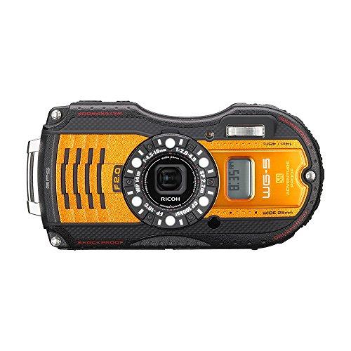 RICOH 防水デジタルカメラ WG-5GPS オレンジ 防水14m耐ショック2.2m耐寒-10度 RICOH WG-5GPSOR 04662