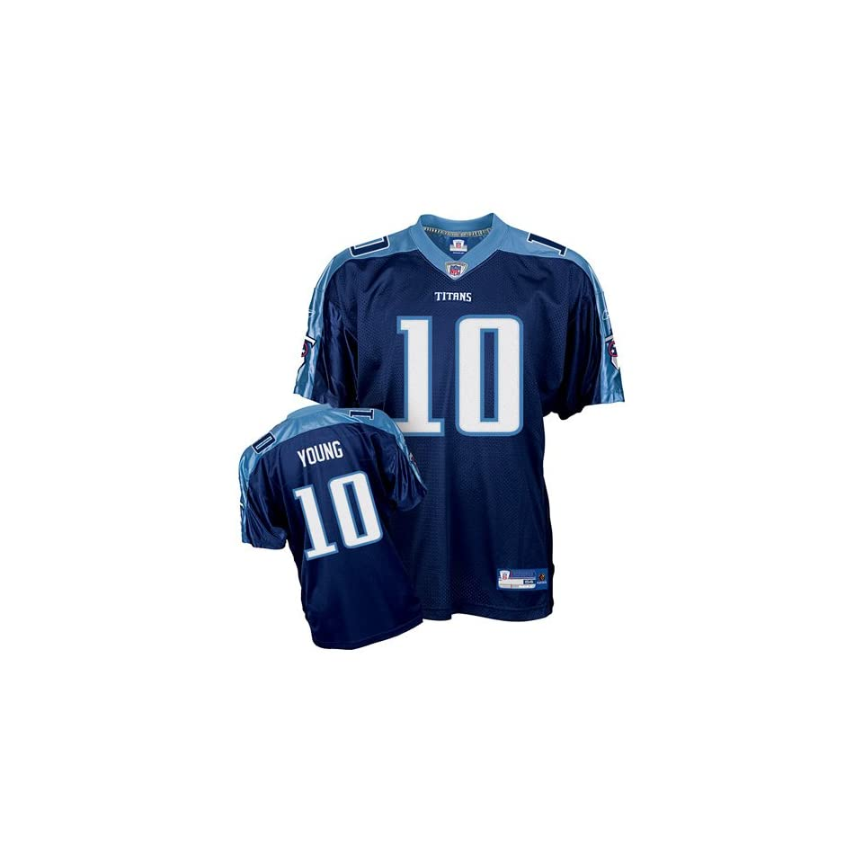 35bde1050d4e Reebok Tennessee Titans Vince Young Authentic Team Color Jersey on ...