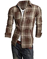 Easter sale! Summer River London 2014 Limited Edition: New Collection Checkered Men's Slim Fit Casual Plaid Shirt
