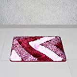 Story @ Home Purple Polyester Brick 1 Pc Door or Bath Mat