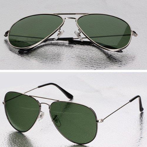 Mode Sonnenbrille für Damen und Herren,reflektierende Sonnenbrille,Gradientfarben (grau+ grün)