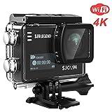 SJCAM SJ6 Legend 4K Wifi Action Camera Dual Screen- 2.0 TouchScreen/ 0.9 Front LCD Screen/ 170 Degree Wide Angel/ Gyro Stabilization/ External Microphone Supported (Black)