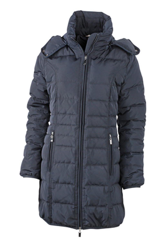 JN1085 Damen Daunenmantel mit Kapuze Daunenjacke Jacke Mantel