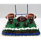 NFL Football Atlanta Falcons Birthday Cake Topper Set Featuring Falcons Helmets and Falcons Decorative Pieces