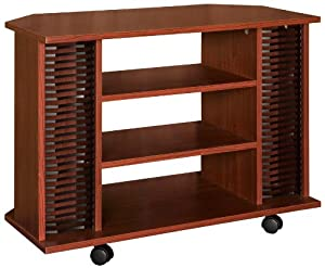 Home Source Industries EH 7030 Rolling TV Stand, Mahogany