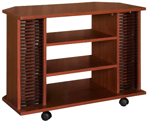 Home Source Industries EH 7030 Rolling TV Stand, Mahogany image