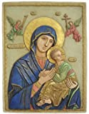 Our Lady of Perpetual Help Wall Relief, Blue Cloak