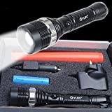Cvlife 1000 Lumens CREE XM-L T6 LED Zoom Lamp Light Zoomable Flashlight Torch With Free 2200mAh 18650 battery and charger