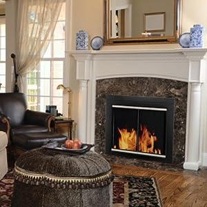 Amazon Com Pleasant Hearth Ap 1132 Alsip Fireplace Glass