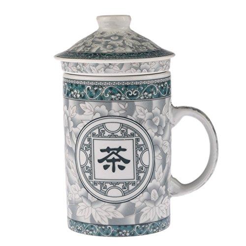TISANIERE pour THE ou INFUSION - Motif Idéogramme Chinois Thé