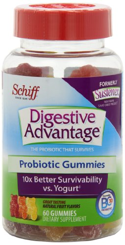 Schiff Sustenex Probiotic Gummies, 60 Count