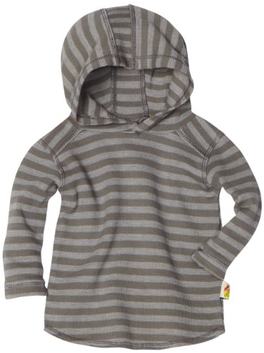 Charlie Rocket Baby-boys Infant Striped Thermal Hoodie, Camo, 9/12 Months