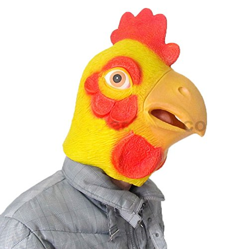 [The Twelve Zodiac Animal Mask - Halloween--Chicken] (Latex Wolf Suit)