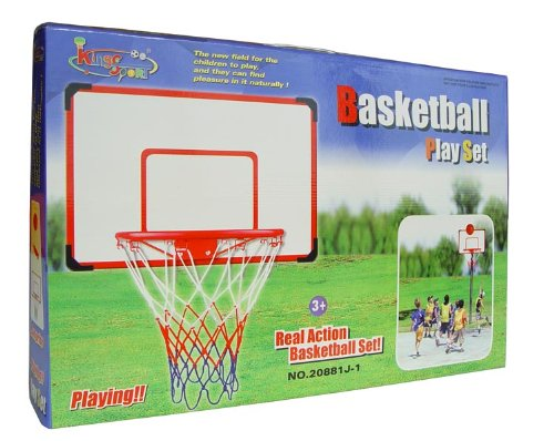 Indoor outdoor xl big basketball hoop set 27 x 18 for Basketball hoop inside garage