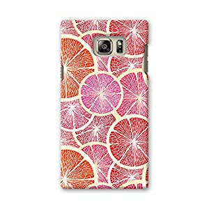 ArtzFolio Grapefruit : Samsung Galaxy Note 5 Matte Polycarbonate Original Branded Mobile Cell Phone Designer Hard Shockproof Protective Back Case Cover Protector