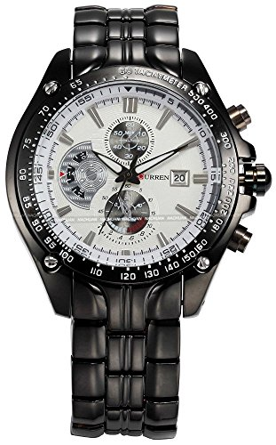 Fanmis-Mens-Luxury-Watches-White-Dial-Calendar-Wrist-Watch-with-Black-Ion-Plated-Stainless-Steel-Bracelet